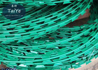 Electric Galvanized PVC Coated Razor Wire With Sharp Blade Garden Security Fencing
