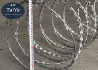 Heavy Galvanized Razor Blade Fencing Coil Diameter 450mm Military Razor Barbed Tape