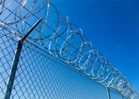 Security Galvanized Steel razor barbed wire fence , razor sharp wire ISO