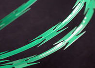 PVC Coated Concertina Razor Wire CBT -65 Razor Ribbon Fencing 5-25kg Weight