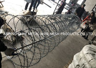 Galvanized Mobile Security Barrier Concertina Double Circles Razor Wire Fence