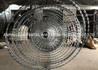 Goverment Use Double Circle BTO30 Razor Wire , SS304 Concertina Coil