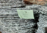 2.3mm * 2.3mm 4 Point Prison Barbed Wire 20kg Per Roll On Pallet Packing