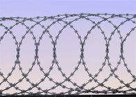 Concertina Flat Wrap Razor Wire Use On Top Of Fence Or Concrete Wall