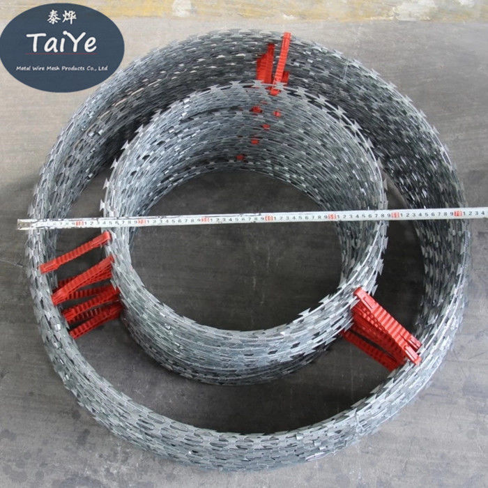 High Galvanized Double Concertina Razor Wire 800 KG Tensile Strength