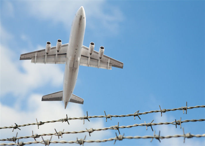 Silver High Security Barbed Wire Airport Fence With Razor ...