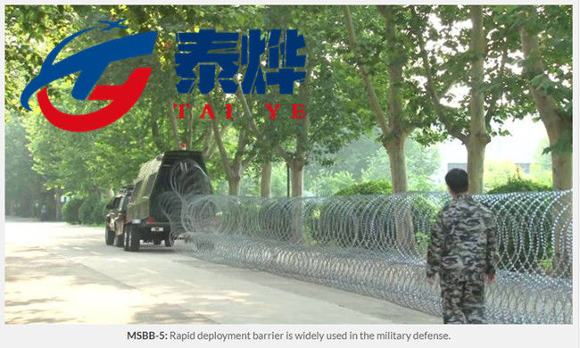 Stainless Steel Razor Wire Mobile Security Barrier Solve Emergency Problems