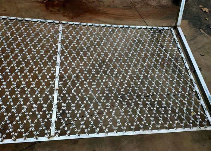 Razor Mesh Welded Razor Wire Mesh Fence Panel For Protective Fence Prison Fence