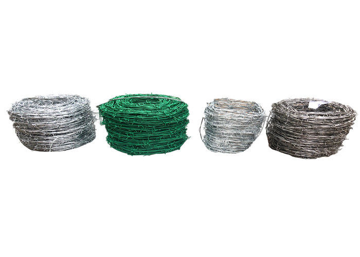 Stainless Steel Security Barbed Wire Electro Galvanized Or PVC Coated