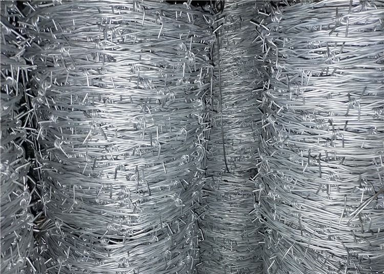Price Per Roll Galvanized Security Barbed Wire For Farm Fence