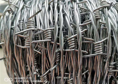 China High Tensile 400 Meters Galvanised Barbed Wire Price Per Roll For Kenya factory