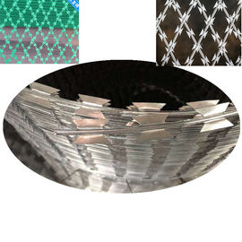 China CBT65 CBT60 BTO22 Welded Razor Wire Mesh 75 * 150mm Diamond Hole factory