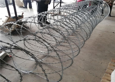 China Electro Razor Barbed Wire Double Coil High Tensile Concertina Wire In Roll factory
