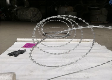 Unclipped Razor Ribbon Wire Razor Concertina Wire Coil Security Barrier